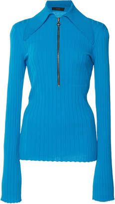 Ellery Charters Ribbed-Knit Polo Top