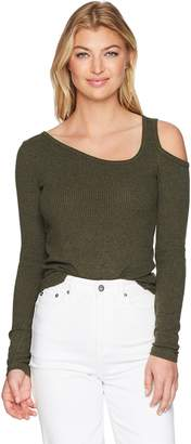 Lucky Brand Women's ONE Cold Shoulder TOP