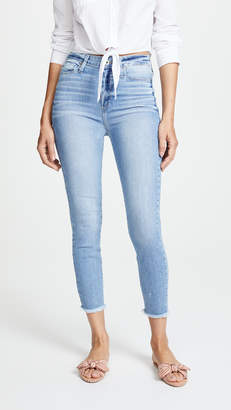 Paige Margot Cropped Jeans with Frayed Hem