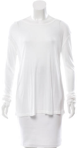 Alexander Wang T by Alexander Wang Long Sleeve Scoop Neck Top w/ Tags