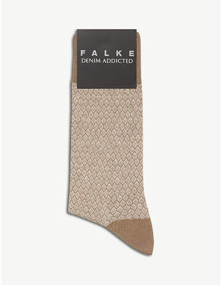 Falke Diamond pattern cotton socks