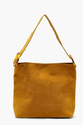 boohoo Suedette Resin Strap Daybag