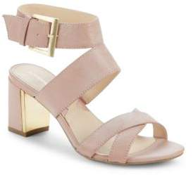 Open-Toe Leather Sandals $110 thestylecure.com