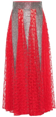 Christopher Kane Embellished lace skirt