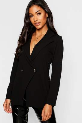 boohoo Double Breasted Military Duster