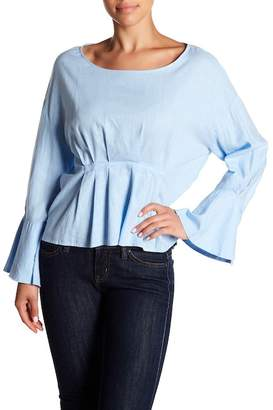 Blend of America Abound Flare Sleeve Linen Top