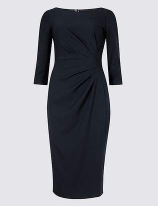 Marks and Spencer PETITE 3/4 Sleeve Shift Midi Dress
