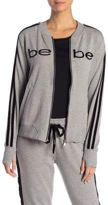 Bebe Velour Trim Fleece Jacket