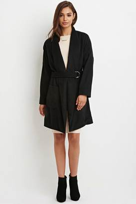 FOREVER 21+ Shawl Collar Belted Coat $67.90 thestylecure.com