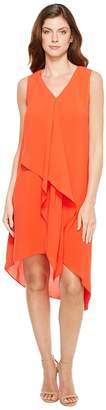 Adrianna Papell Asymmetrical Front Drape Dress Women's Dress