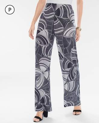 Travelers Classic Petite Graphic Butterfly Palazzo Pants
