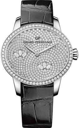 Girard Perregaux Girard-Perregaux 80489D53A1B1-CK6A Cat's Eye alligator-leather and diamond watch