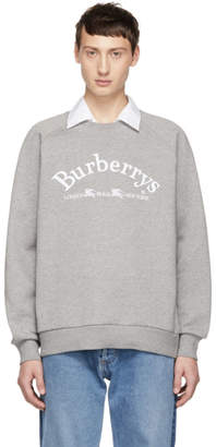 Burberry Grey Vintage Logo Sweatshirt