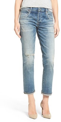 Women's Citizens Of Humanity 'Emerson' Ripped Slim Boyfriend Jeans $268 thestylecure.com