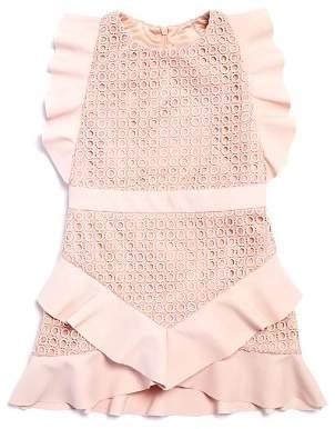 Bardot Junior Girls' Ruffed Eyelet Lace Dress - Big Kid
