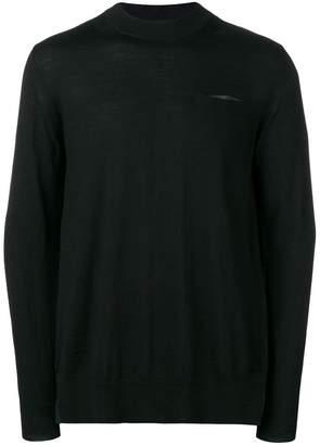 Sacai contrast back sweatshirt