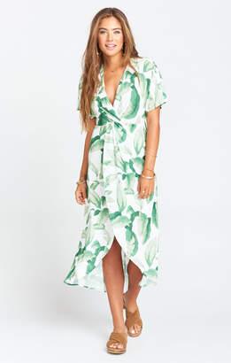 Show Me Your Mumu Zip Twisted Maxi Dress ~ Palmtini