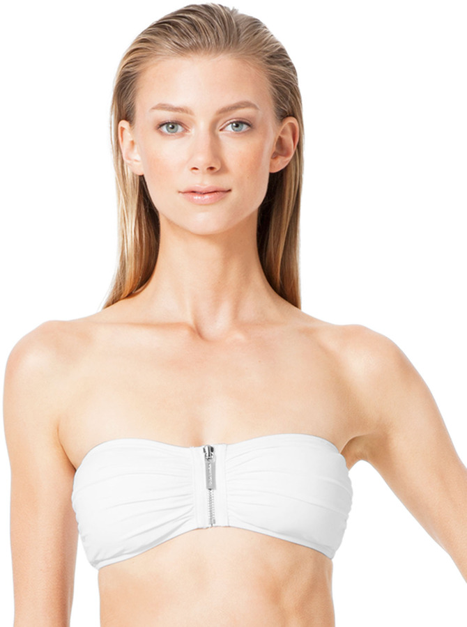 Michael Kors Tunisia Front-Zip Bandeau Top