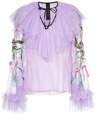Romance Was Born Unicorn beaded blouse