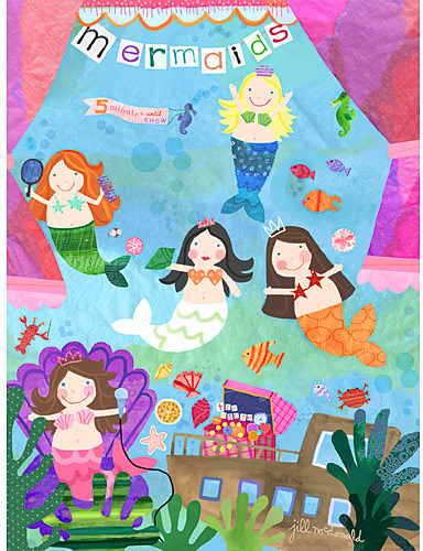Mermaid Performance Canvas Reproduction
