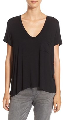Women's Lush Deep-V Neck Tee $24 thestylecure.com