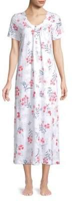 Carole Hochman Floral Lace Cotton Nightgown