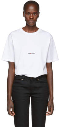 Saint Laurent White Classic Logo T-Shirt