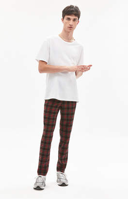 Pacsun Skinny Trouser Red Plaid Pants