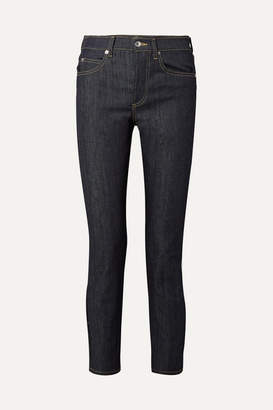 Eve Denim Silver Bullet High-rise Straight-leg Jeans - Dark denim