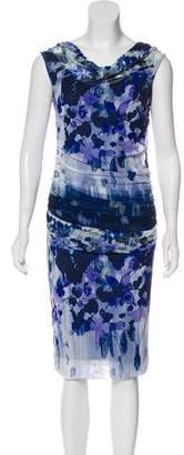 Fuzzi Sleeveless Printed Dress w/ Tags