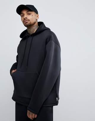 Asos DESIGN Oversized Hoodie In Black Scuba