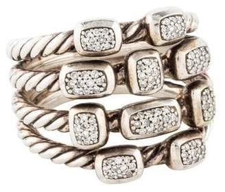 David Yurman Diamond Four Row Confetti Ring