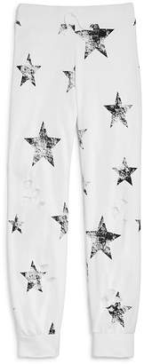 Flowers by Zoe Girls' Distressed Star-Print Jogger Pants - Big Kid