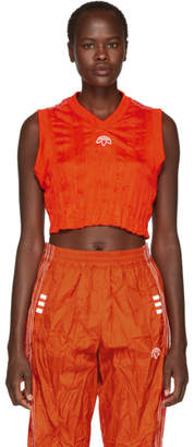 adidas by Alexander Wang Orange Crop Tank Top