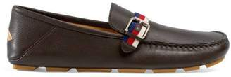 Gucci Leather driver with Web buckle