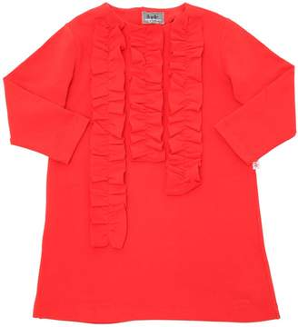 Il Gufo Ruffled Cotton Sweatshirt Dress