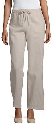 Liz Claiborne Linen Pant - Tall