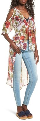 Women's Sun & Shadow Cold Shoulder High/low Top $49 thestylecure.com