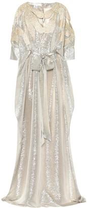 Oscar de la Renta Sequined silk gown