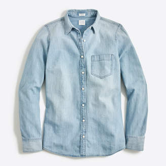 J.Crew Factory Chambray shirt in perfect fit