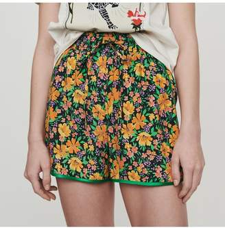 Maje Flowing Shorts In Floral Print