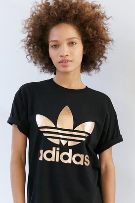 Adidas Originals Rose Gold Double Logo Tee $39 thestylecure.com