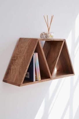 Leila Triangle Wood Wall Shelf