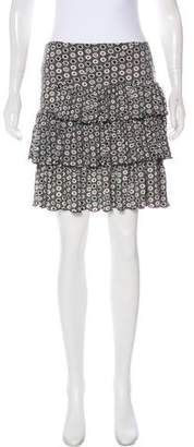 Kenzo Floral Print Mini Skirt