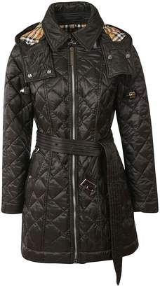 Burberry Baughton Quilted Hooded Coat