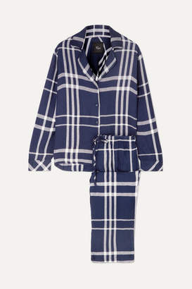Rails Checked Flannel Pajama Set - Midnight blue