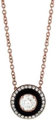 Selim Mouzannar Round Black Enamel and Diamond Necklace