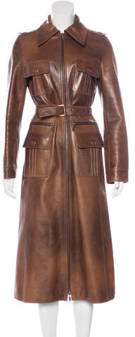Celine Céline Long Leather Coat