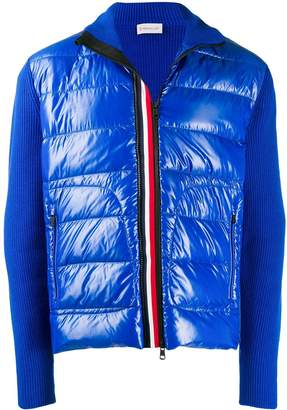 Moncler tricolour shell puffer jacket