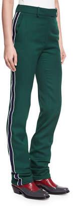 Calvin Klein Side-Stripe Wool Twill Pants